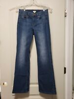 J.crew Stretch Jeans Womens Size 25 (US 0) Bootcut