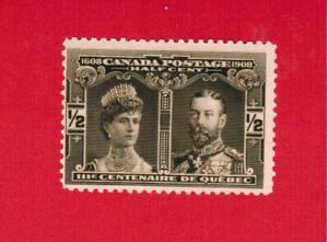 1908  #  96 **  FNH  TIMBRE  CANADA  STAMP  Quebec TRICENTENARY  (2) AVR21