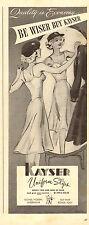 1943 WW2 era AD,  KAYSER Uniform Slips Hosiery Underwear  terrific art ! 111014