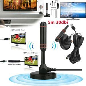 DVB-T DVB-T2 HD Antenne mit GOLDStecker für Smart TV Receiver USB Stick max 36dB