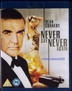 NEVER SAY NEVER AGAIN - 007 James Bond - Sean CONNERY Kim BASINGER Blu-ray