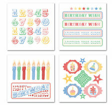BIG TOP BIRTHDAY RUB-ONS SWATCH PACK scrapbooking PARTY