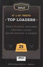 Lot of 75 Cbg 8 x 10 Hard Plastic Rigid Topload Photo Holders 8x10 toploaders