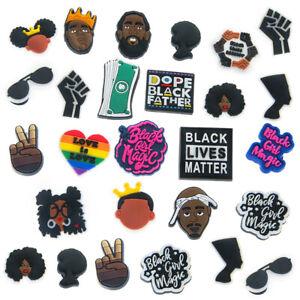 NEW Shoe Charms Black Lives Matter for Croc Nipsey Tupac Biggie 20pcs Set