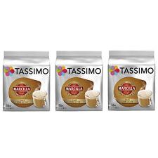 """3 PACK TASSIMO MARCILLA """"CAFE CON LECHE"""", SPANISH COFFE - 3 x 16 CAPSULES"""