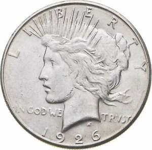 Choice - Gem BU Unc - 1926-S Peace Silver Dollar -- 90% Silver *907