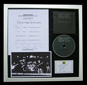 AC/DC+ACDC+SIGNED+QUALITY FRAMED+BACK IN BLACK=100% AUTHENTIC+FAST GLOBAL SHIP