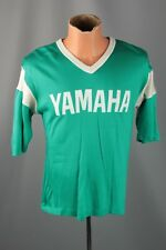 Vtg. 80s Men's Yamaha Guitar Green Jersey TShirt Size Medium #821 Wrangler Tour