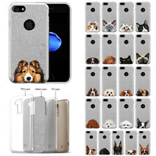 "For Apple iPhone 8 / iPhone 7 4.7"" Dog Bling Glitter Tpu Silicone Case Cover"