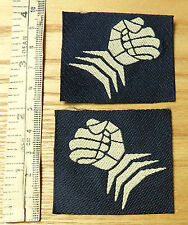 Military Pair Of 6th Armoured Division Cloth Formation Badges Blue (3813)