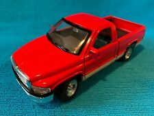MAISTO 1/26 Scale DODGE RAM w/ OPENING DOORS TAIL GATE, RED/SILVER IN COLOR ,