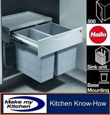 Hailo 30ltr Space Saving Tandem Kitchen Recycling Waste Bin for 500mm Unit