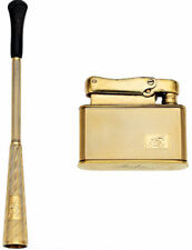LIGHTER & CIGARETTE HOLDER  ART DECO 18 KT GOLD GORGEOUS  55.2  GRAMS-L =100MM