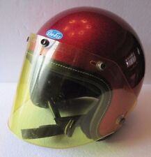 Vintage 1971 Pro-Fit 500 Red Sparkle Motorcycle Helmet Size Small Japan