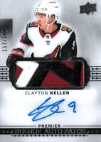 2017-18-U.D. PREMIER R.C. CLAYTON KELLER  ROOKIE  AUTO PATCH  SP #/199 ARIZONA