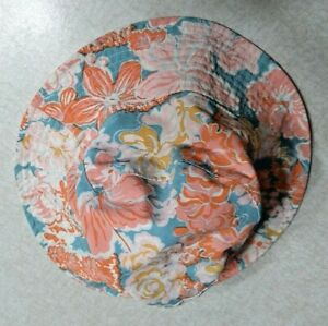 Patagonia Baby Hat Sun Bucket Hat Blue Pink Floral Reversible