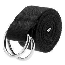 Double D Ring Metal Buckle Fashion Gifts 3 Colors Mens Womens Canvas Belt with