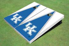 University Of Kentucky Blue And White Matching Triangle Custom Cornhole Board