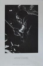 Herman Leonard Kenny Clarke poster image Art pression 57x36,5cm LIVRAISON GRATUITE