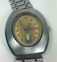 Caravelle Automatic Watch N2 Day Date Oval Face Needs Service