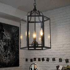 Large Chandelier Kitchen Black Pendant Lighting Bar Ceiling Lights Shop LED Lamp