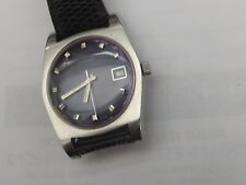"""gents stainless steel cased purple dial manual wind """"sandoz""""  polemaster watch"""