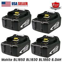 4XFor Makita 18V 6AH LXT Lithium Ion Battery Replaces BL1840 BL1830 BL1815 Tools