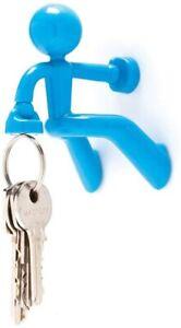 KEY PETE Blue Magnetic Man Holder Strong Man Office Home  By Peleg Design