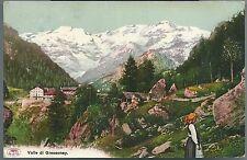 1901ca VALLE DI GRESSONEY cartolina Valle d'Aosta