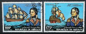 DJIBOUTI 1981 Admiral Nelson & HMS Victory. Set of 2. Fine USED CTO. SG818/819.