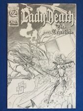 LADY DEATH : THE CRUCIBLE WIZARD #1/2 LIMITED CLOTH EDITION MISSING COA