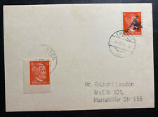 1945 Vienna Germany OSS Forgery Stamp Postcard Cover Locally Used