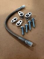 LS Throttle Body Bypass Coolant Crossover Hose Kit Braided Stainless Aluminum SS