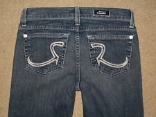 Rock & Republic Size 27 Kasandra Flare Stretch Denim Womens Jeans Measure Short