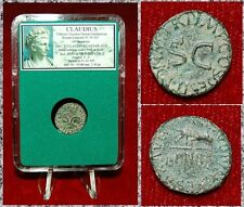 ROMAN EMPIRE COIN CLAUDIUS QUADRANS HAND WITH SCALES OBVERSE AND S-C ON REVERSE