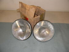 ORIG VINTAGE  LUCAS HEAD LIGHT LAMP PAIR RHD XK 140 150 BENTLEY ROLLS ROYCE 50'S