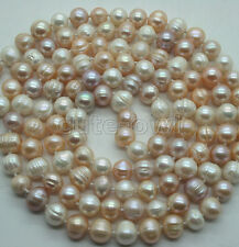 51' Long Fashion Women's Natural 7-8Mm Multicolor Freshwater Pearl Necklace