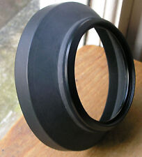 internal thread EI72 72mm screw on ,metal and rubber wide angle lens hood