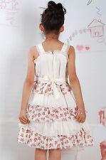 NUEVO Niñas Floral Vestido de fiesta en rosa, crema de 2 AÑOS A 4 años