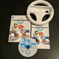 Mario Kart Wii Nintendo Complete CIB Disk Manual Case & Wheel - Working