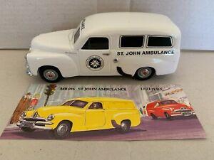 "Mint & Boxed  Holden FJ ""St John Ambulance"" MB016. Ltd Edition Scale 1:25"