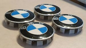 BMW TAPAS PARA LLANTAS LOGO BMW O BUJES EMBLEMA BMW (4 UNIDADES)