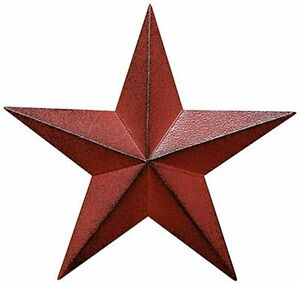 """Distressed Country Red Black Burgundy Barn Star Country Primitive Wall Décor 8"""""""