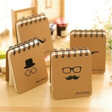 """Men Style"" 1 pc Mini Diary Pocket Notebook Cute Memo Coil Spiral Blank Freenote"