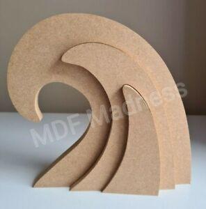 MDF CRAFT SHAPE. WOODEN 3D WAVE STACKER