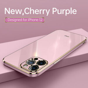 For iPhone 11 12 Pro Max XS X XR 7 8 Plating Shockproof TPU Silicone Case Cover