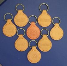 Recovery Leather Key Chain ALL coins AA NA Medallion Courage to Change Handmade