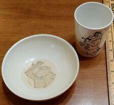 Vintage Melmac Magilla Gorilla Plastic Cup And Bowl Set - 1960s Hanna Barbera