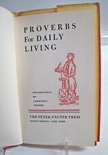 PROVERBS FOR DAILY LIVING (HC/DJ) Peter Pauper Press, Illustrated