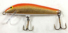 """A.C. SHINERS 300 SHALLOW DIVER MINNOW 3"""" ORANGE BACK/GOLD BELLY 300-07 SHINER"""